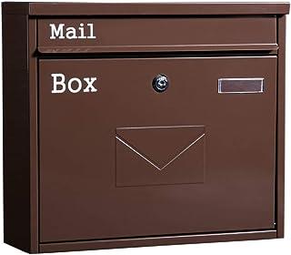 メールボックス 防雨レトロ大レターボックス屋外メールボックスにロックするために、新聞や雑誌のメールボックスをウォールマウント 郵便受け (Color : As shown, Size : 36x10.5x32cm)