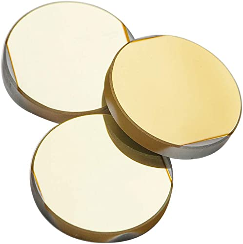 popular Cloudray Pack of 3PCS CO2 Laser new arrival Mirrors Dia 20mm (0.79 inch) K9 Glass Material outlet online sale with Golden Coating for CO2 Laser Cutting Head sale