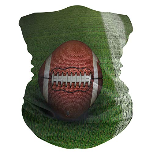 QMIN Stirnband 3D American Football Field Bandana Gesicht Sonnenschutz Maske Hals Gaiter Magic Scarf Sturmhaube Kopfbedeckung für Damen Herren Jungen Mädchen