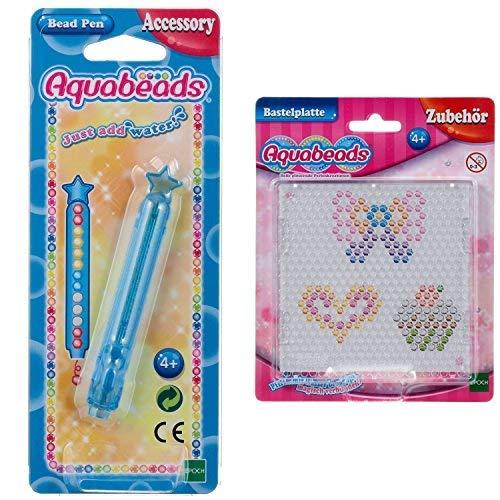 Aquabeads 31338 Perlenstift Bastelzubehör &  79408 - Bastelplatte