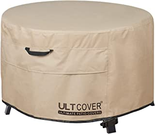 ULTCOVER Patio Fire Pit Table Cover Round 40 inch Outdoor Waterproof Fire Bowl Cover
