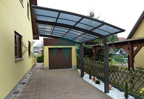 Ximax Carport Portoforte Typ 80 Edelstahl-Look 555 x 301 cm