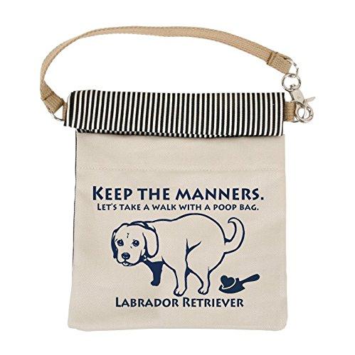 LIP2001 抗菌消臭マナーポーチ (ラブラドール・レトリバー, ネイビー) 犬 ドッグ ペット 消臭 抗菌 光触媒 お散歩 消臭ポーチ ウンチポーチ ウンチ袋 お出かけ グッズ