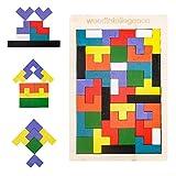 Tablero de rompecabezas tetris juguetes de madera para niños de 4 5 6 años, juegos de caja de...