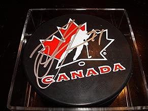 Autographed Steven Stamkos Hockey Puck - Team Canada **PROOF** - Autographed NHL Pucks