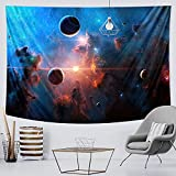 Sol luna cielo estrellado tapiz dormitorio decoración del hogar estilo bohemio dormitorio pared psicodélico manta colgante manta A2 150x200cm