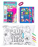 3C4G Deluxe Kids Summer Camp Gift Set Kit - Autograph Pillowcase, Journal, Stationary Set (with Postcards, Stickers) and Wristband Accessory