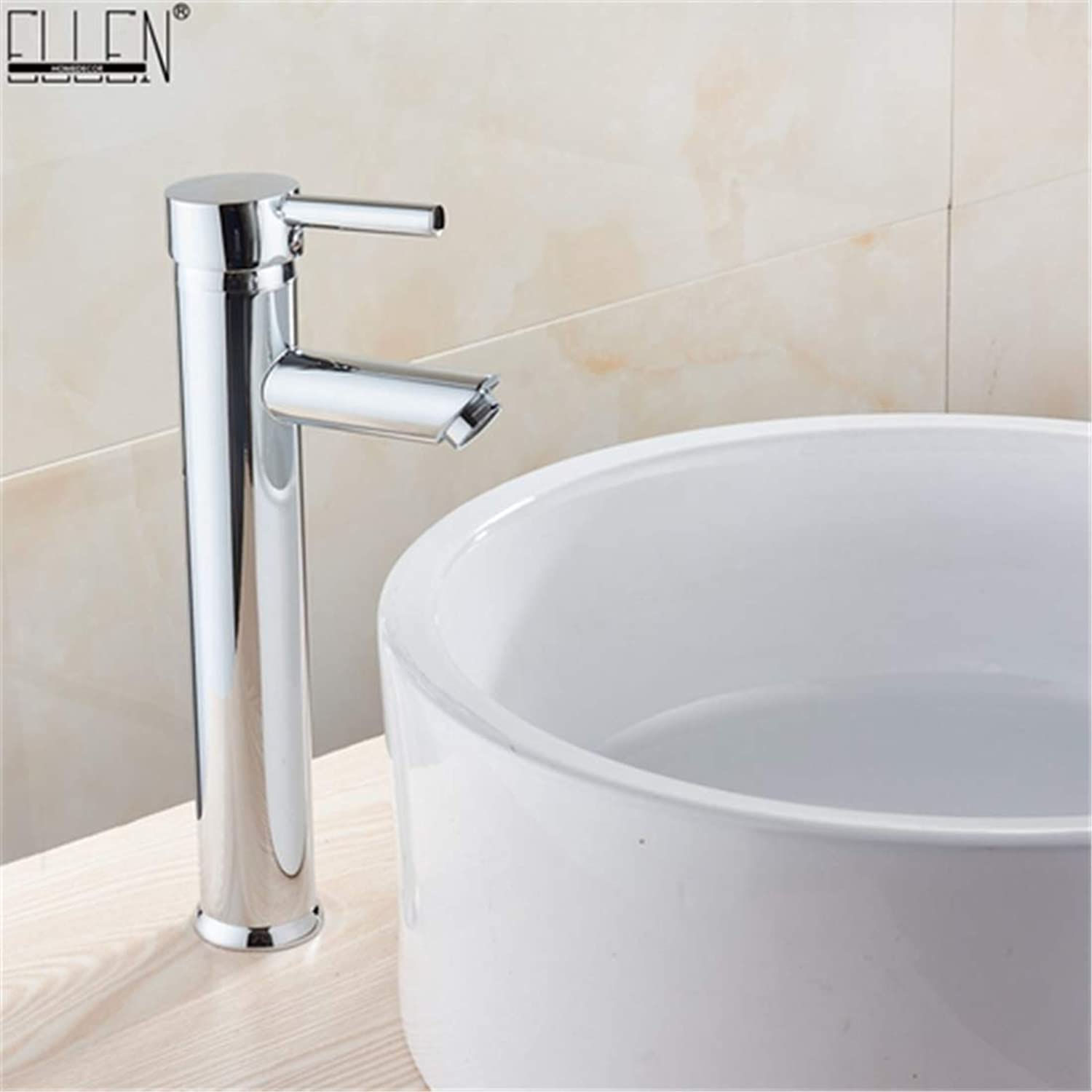 360 redation Round Solidwashbasin Hot Water Tap and Cold Water Mixer Tap Chrome Finish