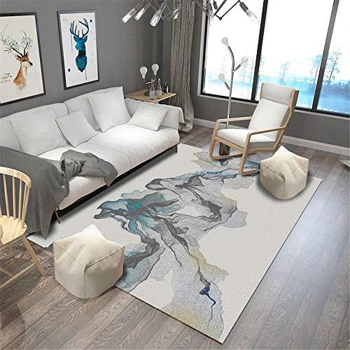 RUGMYW Decorativos alfombras Salon Beige Amarillo Gris Verde Azul Doodle Alfombra pie de Cama 200X300cm