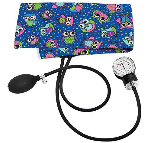 Prestige Medical Premium Adult Aneroid Sphygmomanometer, Party Owls Royal