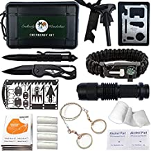 Emergency Survival Kit - 35 PCS Outdoor Gear, Gadgets, and Survival Tools. Hiking, Camping, Backpacking Essentials. Everyday Carry, Prepper Supplies, Bushcraft, Bug Out Gear, Best EDC Preparedness