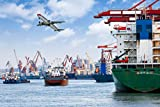 YULEXIN Puzzle 1000 Teile Ships and Planes at The Dock Sehr Herausforderndes Puzzle Für Erwachsene...