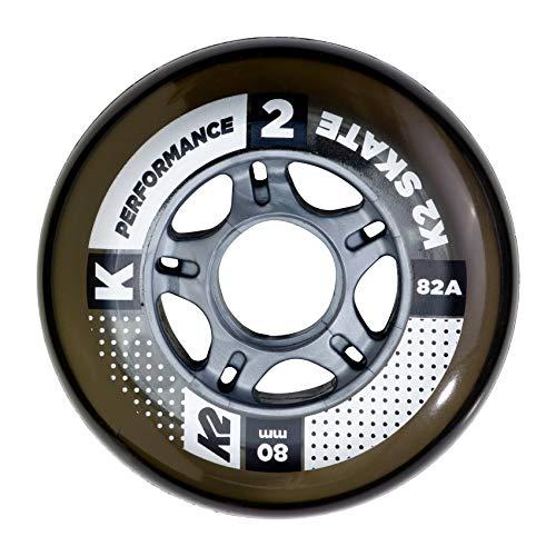 K2 Inline Skates Rollenset 80 mm Performance Wheel Ersatzrollen - Schwarz - 4 Rollen - 30B3002.1.1.1SIZ