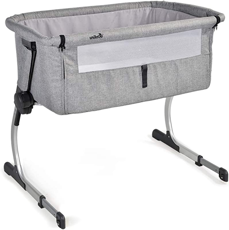 Unilove Hugme Bedside Sleeper Includes Travel Bag Mattress And Mosquito Net Grey