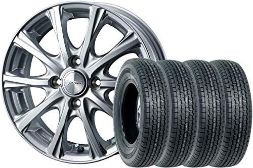 【スタッドレスタイヤ・ホイール 4本セット】 12インチ ブリヂストン(Bridgestone) W300 145/80R12 + WEDS(ウェッズ) JOKERMAGIC(ジョーカーマジック) (12×4.0 4 100.0 INSET42) シルバー 新品4本セット