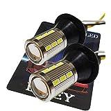 LIMEY 新型 T20 LED ウインカーポジション ホワイト/アンパ-の2色発光 ダブル ピンチ部違い対応 美光5630SMD 21連 2チップ搭載 ポン付けT20ソケット付き(無加工一体型)【取扱説明書&保証書付き】- T20WA5630