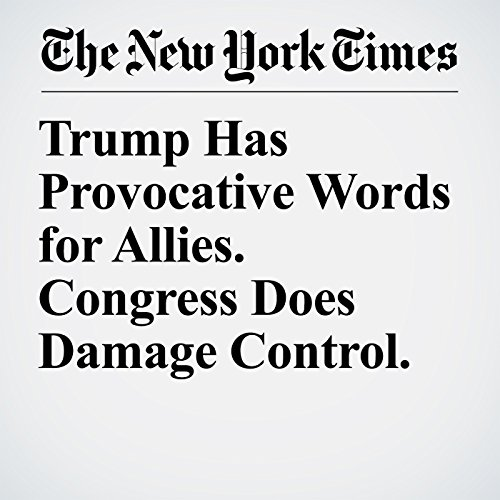 Trump Has Provocative Words for Allies. Congress Does Damage Control. copertina