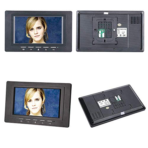 NA Home 7 inch 2 Monitor RFID-wachtwoord Video-deur Telefoon Intercom Deurbel met Ir Camera 1000 Tv Line Access Control System