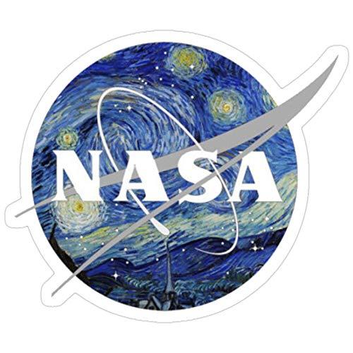 Sticker Vinyl Decal for Cars, Water Bottle, Fridge, Laptops Van Gogh NASA Stickers (3 Pcs/Pack)