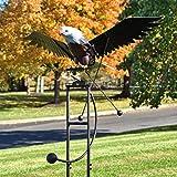 Zaer Ltd. Large Flapping Eagle Balance Rocking Garden Stake, 6.25 Ft. Tall