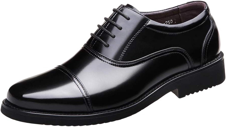 Herren Casual Smart Schwarzes Schwarzes Schwarzes Leder Schnürschuhe Komfortable Oxford Formelle Schuhe Business und Tägliche Abnutzung Militärische Flache Fahrschuhe  85ea70
