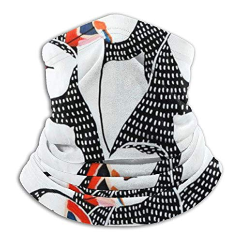 Pasamontañas con Escudo Facial,Frailecillo Que Dibuja La Media Bufanda De La Cara, Pañuelo Hermoso del Calentador del Cuello para Caminar,26X30Cm