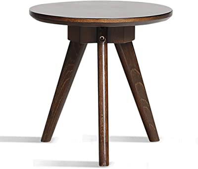 Creative Coffee Table Full Solid Wood Side a Few Simple Living Room Sofa Corner Coffee Table Tea Table Side Table (Color : Brown, Size : 32 * 32.5cm)