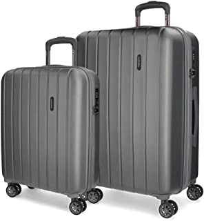 MOVOM Women's Set of 2 suitcases, Anthracite, 65 centimeters