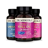 Dr. Mercola Essential 3 for Women (30 Servings), Krill Oil for Women, Ubiquinol 150 mg, Complete Probiotics for Women, Supports Digestive, and Immune Health*, Non GMO, Gluten Free, Soy Free