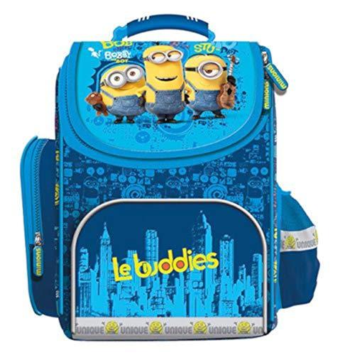 Minions Schulranzen Rucksack Kinderrucksack Schulrucksack Ranzen Mädchen Junge blau gepolstert