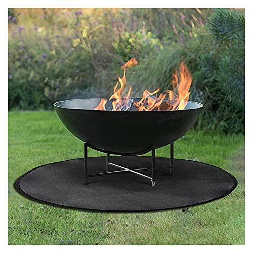 Thicken Fire Pit Mat |Black Grill Mat |Gas BBQ Fireproof Mat Heat Resistant Mat Easy to Carry Outdoor Protect Deck,Backyard,Grass and Campsite