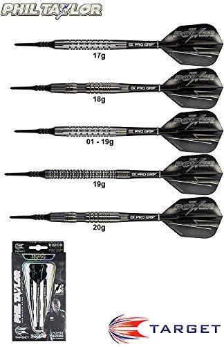 TARGET Darts 8ZERO Black 80% (Phil Taylor) Tungsten Softdarts