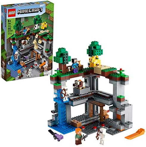 LEGO Minecraft The First Adventure 21169 Hands On Minecraft Playset Fun Toy Featuring Steve product image