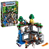 LEGO Minecraft The First Adventure 21169 Hands-On Minecraft Playset; Fun Toy Featuring Steve, Alex, a Skeleton, Dyed Cat, Moobloom and Horned Sheep, New 2021 (542 Pieces)