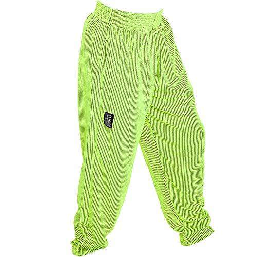 C.P.Sports S10 Pantaloni da uomo da allenamento, fitness, bodybuilding, jogging, giallo fluo, L = 7