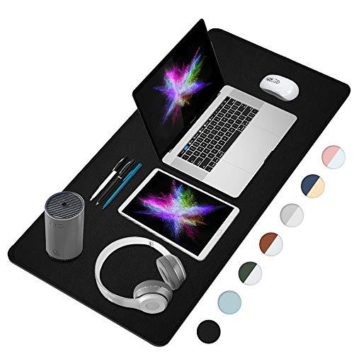 FAMEDY Almohadilla de escritorio, Estera del Escritorio de Oficina, alfombrilla de ratón grande, protector de escritorio para teclado portátil,alfombrilla de escritura(Negro,60*30cm)