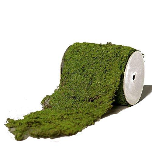 Moosmatte Moosrolle 15x200cm grün Deko Moos
