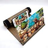 """YsaAsaa - Lente di ingrandimento per schermo del telefono cellulare, schermo video del telefono, multifunzione, con venature del legno da 12"""", per tutti gli smartphone"""