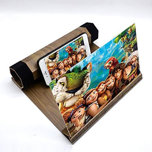 Einsgut Lupa de Pantalla 12 Pulgadas para películas, Videos y Juegos, Amplificador de Pantalla de Soporte de teléfono Plegable para Todos los teléfonos Inteligentes