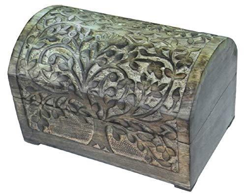 Schatulle mit Lebensbaum aus Holz, 3 Größen erhältlich, Deko-Schatulle, Kiste, Kästchen (ca. 24 cm)