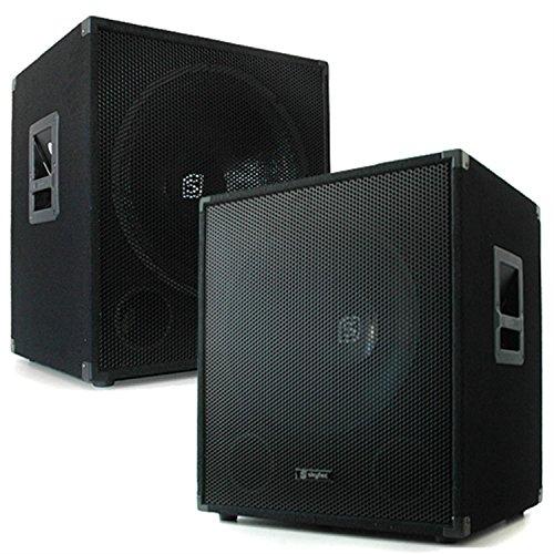 1200W Paar Skytec 38cm (15 Zoll) Subwoofer 2x Bassbox Profi PA Lautsprecher (20-500 Hz, 8 Ohm)