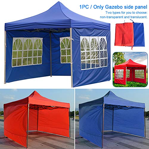 Red Gazebo Tent Side Panels,Replacement Side Wall Panel,3x3m Outdoor Wedding Garden Party Camping Tent,Fully Waterproof Anti-UV Gazebo Sidewall,Outdoor Tent Accessories(Red 3 meters)(without windows)