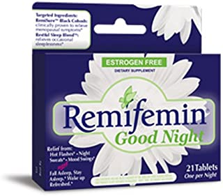 Enzymatic Therapy Remifemin Good Night Estrogen Free One per Night, 21 Count, Pack of 3