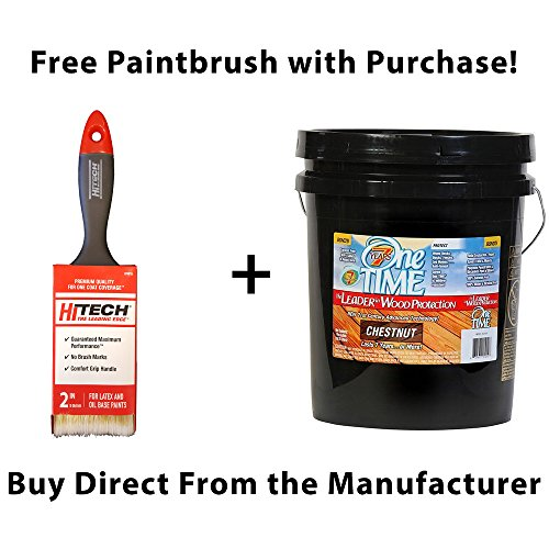 One TIME Chestnut Wood Stain & Sealer 5 Gallon Size