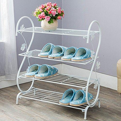 LJHA Étagère à chaussures simple moderne multicouche étagère à chaussures étage pantoufles étagère européenne fer forgé porte chaussure étagère antipoussière simple armoire à chaussures Meubles à chau