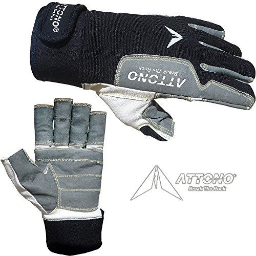 ATTONO Segelhandschuhe Sommer Segeln Regatta Wassersport Handschuhe Größe 9/L