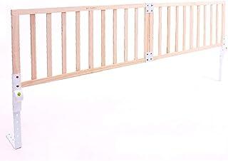 LYFHL Barra de Cama de Madera Maciza, bebé bebé Resistente a los Golpes Cama Cerca Gran Cama Deflector niños Plegables 1.8-2 Metros (Tamaño : 180cm)