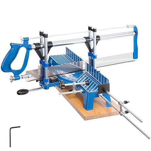 TecTake Gehrungssäge Winkelsäge | 11 vordefinierte Winkeleinstellungen | Regulierbare Schnitttiefen | Klingenlänge: 550 mm
