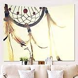 BATOHOME Tapiz Suelo Habitacion, Tapiz Habitacion Adolescente, Poliéster Tapiz Pared Colorido, Tapiz Pared 3D Playa Atrapasueños Amarillo Tapiz 150x100CM