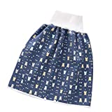 Toddler Waterproof Training Pants Cloth Diaper Skirts for Baby Boy Girl Night Time Sleeping Bed Clothes for Potty Training… (Dark Blue)